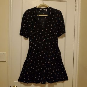 & other stories Tropical Flower dress Navy